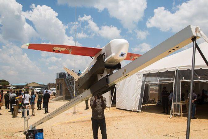 Une drone prête à décoller à Muhanga, photo (c) Igihe