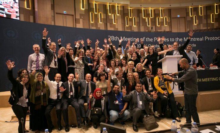 Certains participants à la 28e réunion sur la protection de la couche d'ozone à Kigali, photo (c) Igihe