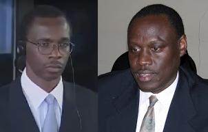 Ferdinand Nahimana (ibumoso), Padiri Emmanuel Rukundo (iburyo)