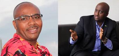 Isidore Ismaïl Mbonigaba umuyobozi wa VEPELEX (ibumoso), Amb. Olivier Nduhungirehe, uhagarariye u Rwanda mu Bubiligi (iburyo)