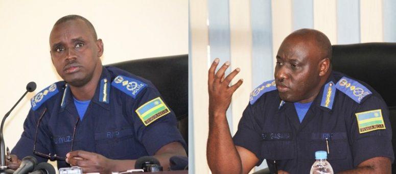 DIGP Dan Munyuza (à gauche) et IGP Emmanuel K. Gasana (à droite)