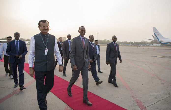Paul Kagame in India. January 9th; 2017