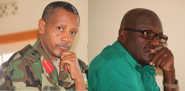 Le colonel Tom Byabagamba et le général à la retraite Frank Rusagara. Photo (c) The Rwandan