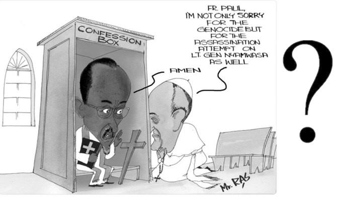 Iki gishushanyo ntikivuga ibyabayeho. Ni uburyo bwo gutebya bukoreshwa rimwe na rimwe mu itangazamakuru (caricature. (c) NVOU